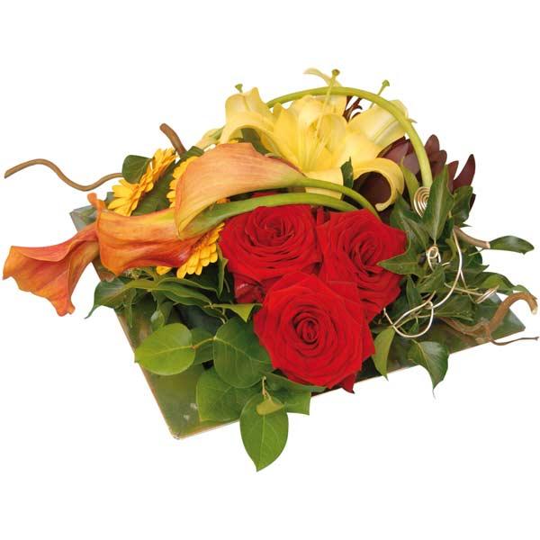 Composition de fleurs agate