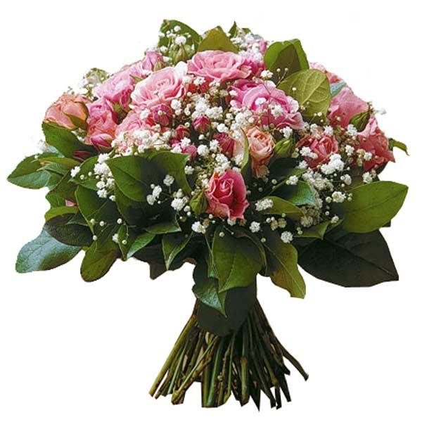 Bouquet pluie de roses