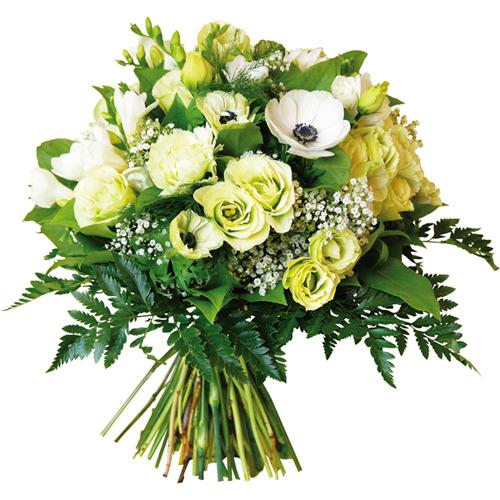 Page 30 tous les produits de entrefleuristes et for Bouquet de fleurs vert et blanc
