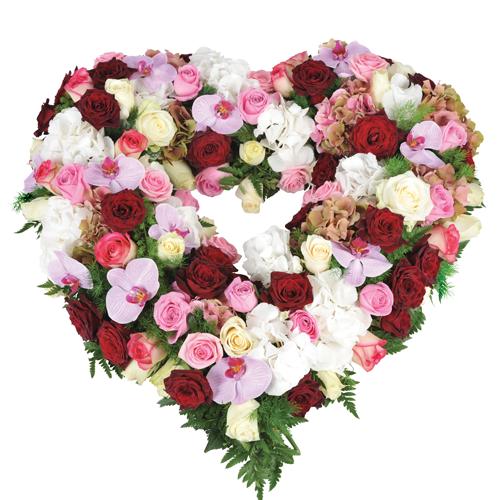 Les coeurs fleurs deuil for Prix de bouquet de fleurs