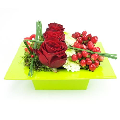 Fleurs originales st valentin - Idee saint valentin deco murale originale avec coeur geant ...