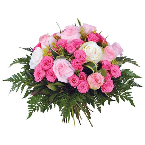 Faites livrer superbe bouquet rond pastel dans les tons for Livrer une rose