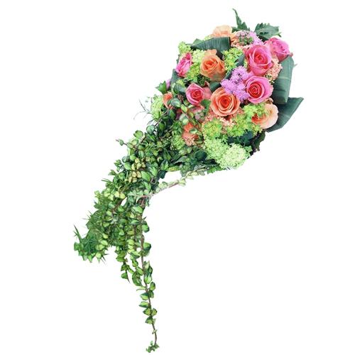 Livraison domicile bouquet de mari e dans les ton rose for Livraison bouquet de fleurs a domicile