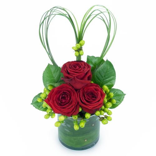 Fleurs rouges saint valentin - Bouquet de rose saint valentin ...